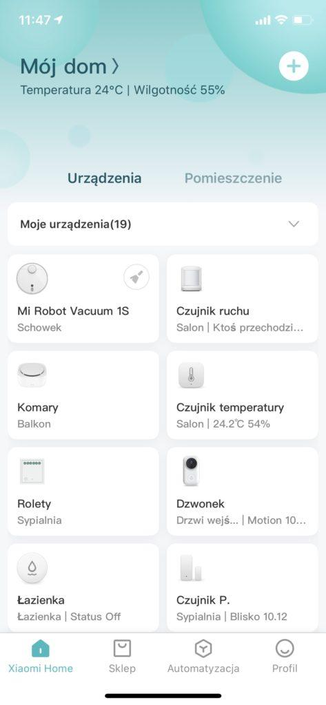 Aplikacja Mijia 1S