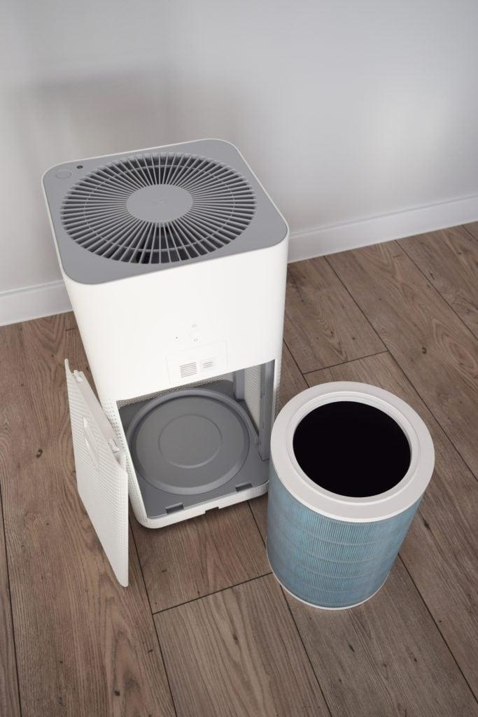 Xiaomi Air Purifier 2S with filter outside