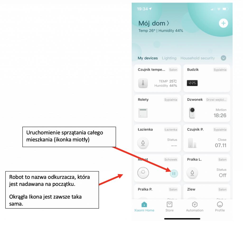 Aplikacja Xiaomi Roborock