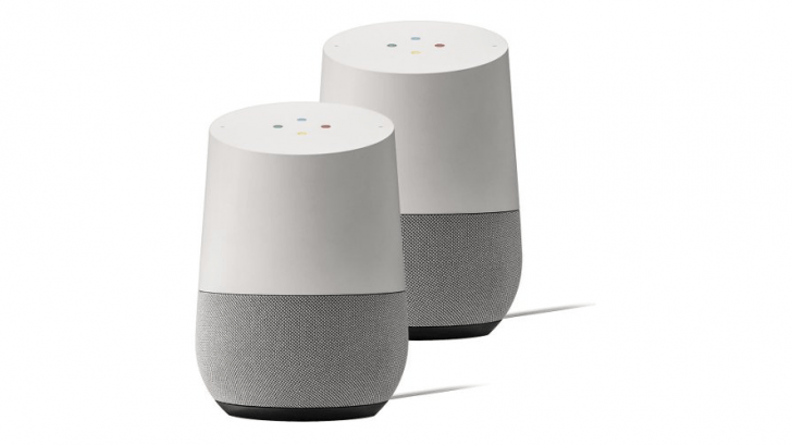 Two Google Home Speakers