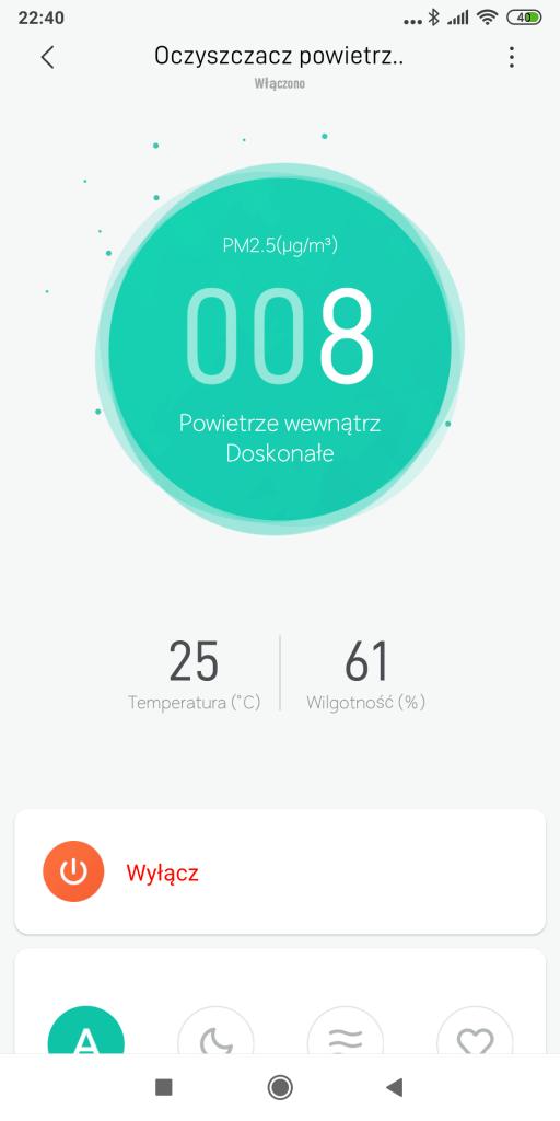 Xiaomi Air Purifier 3H - Aplikacja Mi Home