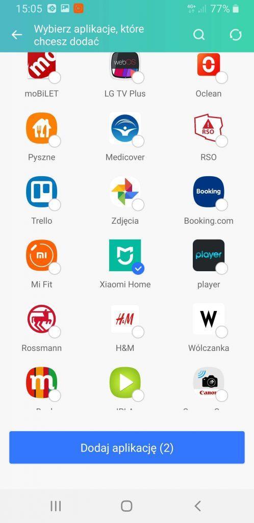 Dwa regiony Xiaomi