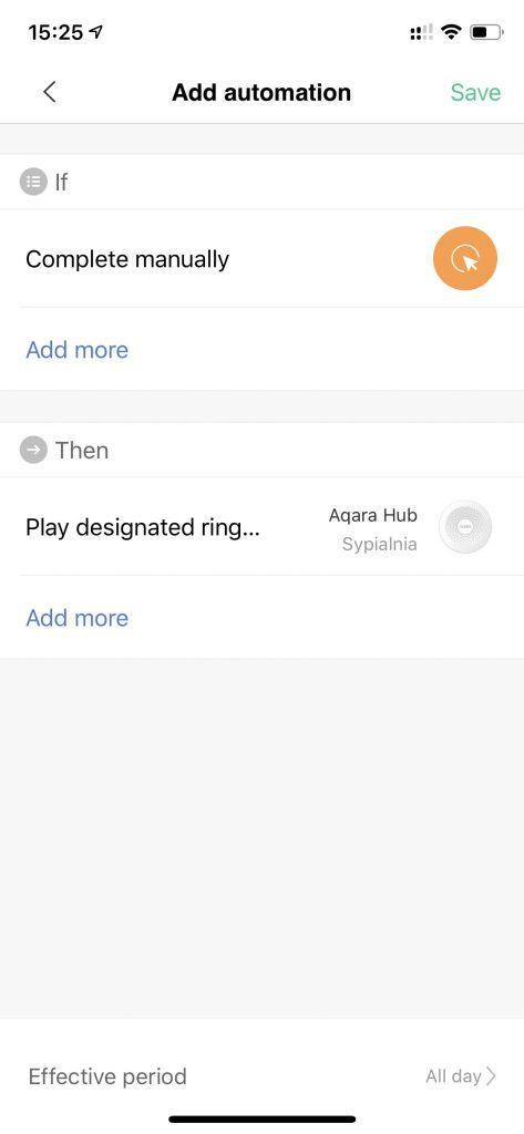 Automatyzacja Aqara Hub